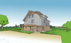 "Passive House ""barn house"" for Serosun Farms lot"