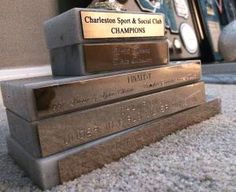I was excited to finish a few projects this weekend while it rained –> this one was a biggie. In part 4 of going through my boxes of childhood, we encounter trophies.