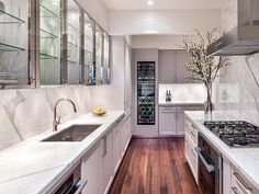 """A """"Classic"""" look in 22 Central Park South in NYC - SieMatic cabinetry with nickel gloss elegance"""