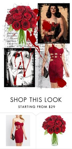 """""""Stuck in my own horror movie"""" by deadly-inspiration ❤ liked on Polyvore featuring Charlotte Russe, women's clothing, women, female, woman, misses and juniors"""