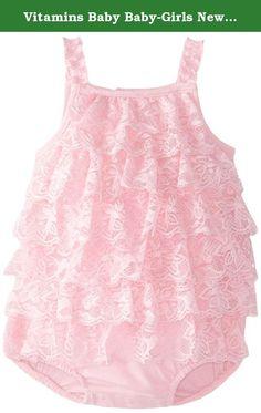 c3904564802 Vitamins Baby Baby-Girls Newborn Tiered Ruffle Floral Printed Sunsuit