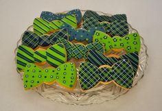 by Kelley Hart Custom Cookies Bow Tie Cookies, Baby Cookies, Valentine Cookies, Baby Shower Cookies, Iced Cookies, Cut Out Cookies, Cute Cookies, Birthday Cookies, Cupcake Cookies