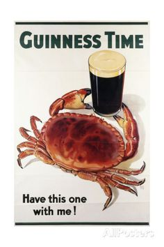 Guinness Time, C.1940 Giclee Print at AllPosters.com Retro Advertising, Vintage Advertisements, Vintage Ads, Vintage Posters, Guinness, Bottle Cap Art, Irish Art, Mobile Marketing, Best Beer