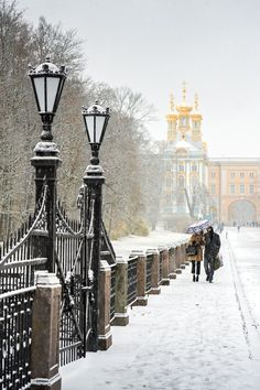 Catherine Park under snow - Saint-Petersburg, Russia  (by Sergey Zolotarev)