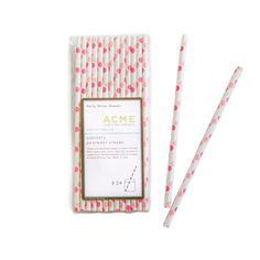 Pink Dot Straws