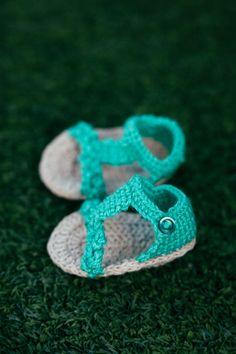 sandalias de para bebé #handmade #ganchillo #crochet