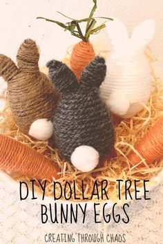 Easy Easter Crafts, Easter Projects, Bunny Crafts, Easter Ideas, Diy Projects, Spring Crafts, Holiday Crafts, Holiday Decor, Creation Deco