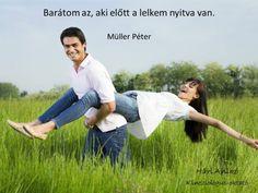 Müller Péter idézete a barátságról. A kép forrása: Hári Anikó # Facebook