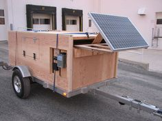 A home built trailer with solar integrated in.