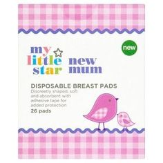 Superdrug My Little Star New Mum Disposable Breast Pads Little Star, Little Ones, Pregnancy Hospital Bag, Hospital Bag Essentials, New Star, New Mums, Adhesive, Breast, Stars