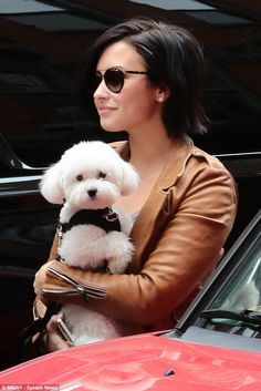Fresh-faced: Demi showed off her flawless skin on her New York City stroll...