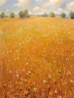 "Matthew Higginbotham  ""Midday Clouds Over Field Grasses II"""