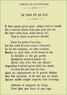 Le Lion Et Le Rat Analyse : analyse, Fontaine, Rats,, Fontaines,, Poesie, Enfant