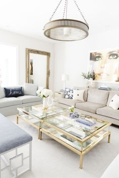 Living Room Updates for Spring with Pottery Barn