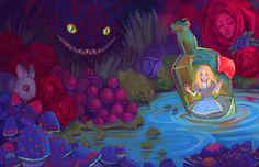 Alice in Wonderland Trippy Art | alice in wonderland #trippy #mushrooms