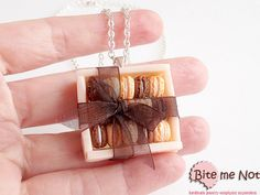 Food Jewelry Macarons Gift Box Necklace Miniature by BiteMeNot