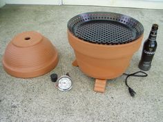 How-To: Make a smoker from flowerpots