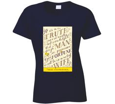 Pride and Prejudice Jane Austen Vintage Book Cover  T Shirt...Customizable colors & styles! Get it for only $18!