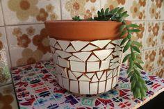 vaso plantas azulejo artesanal arte ceramica tiles handmade decor decoração design interiores casa home pattern mosaic mosaico