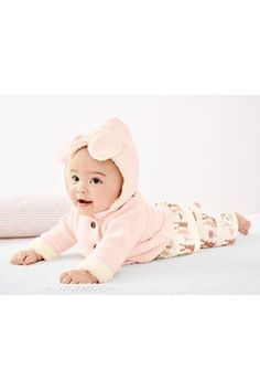 Pink Hooded Cardigan (0mths-2yrs)