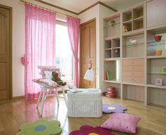 【子供部屋】組み合わせが自在な可動家具で子供室を仕切りました。|インテリア|おしゃれ|かわいい|自然素材|