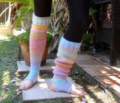 Extra Long Yoga Pilates Dances Socks Leg Warmers by ILiveByTheSea, $28.00. These are beautiful.