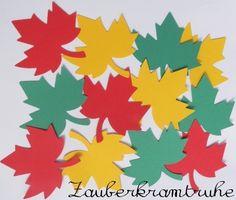 Bunte Ahorn Blätter groß für Deko, Tischkarte etc. von Zauberkramtruhe auf DaWanda.com