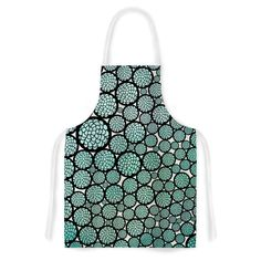 Kess InHouse Pom Graphic Design 'Blooming Trees' Turquoise Circles Artistic Apron