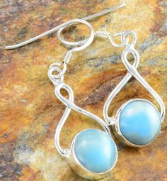 Larimar earrings--I have a very similar pair of these.  I love them!