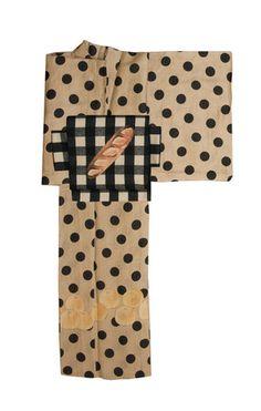 contemporary kimono....dots, plaid, baguette