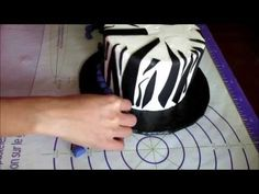 Zebra Butter Cream Fondant Cake - YouTube