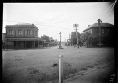 Corner of Macquarie and Scott Streets,Liverpool,in southwestern Sydney in 1920. •State Library of NSW•