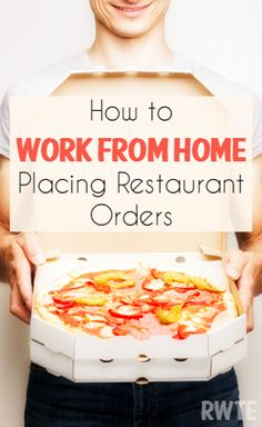 How you can work from home as an order placer, taking orders from customers for popular restaurants. Companies such as DoorDash and Postmates hire for this regularly.