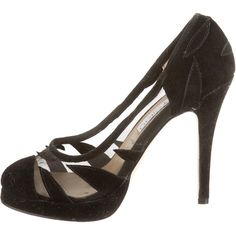 Pre-owned Jimmy Choo Pumps ($195) ❤ liked on Polyvore featuring shoes, pumps, black, jimmy choo shoes, round toe suede pumps, jimmy choo, suede shoes and black pumps