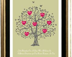 11 x 14, DIY, Custom Family Tree Art Print - Gift for grandma - anniversary  - digital file - printable artwork