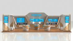 Stand de Telmex para el evento Aldea Digital 2015.Modelado en 3ds Max y renderizado en Mental ray.
