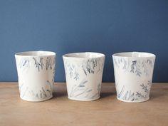 tumbleweed cup blue by villarrealceramics on Etsy, $22.00