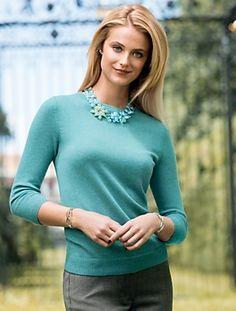 Talbots - Audrey Bateau-Neck Cashmere Sweater | Sweaters | Misses