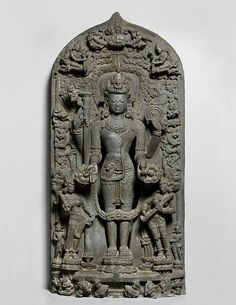 The Hindu deity Vishnu  Place of Origin: India  Place of Origin: Bangladesh, northern Bengal  Date: 1100-1200  Materials: Phyllite  Style or Ware: Pala