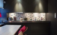 #black #kitchen #cabinets
