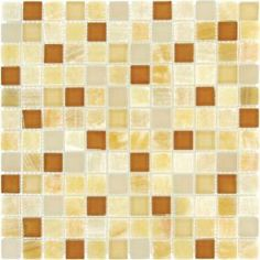 MS International Honey Onyx Caramel 12 in. x 12 in. x 8 mm Glass Stone Mesh-Mounted Mosaic Tile-THDWG-SGL-HOC-8 at The Home Depot