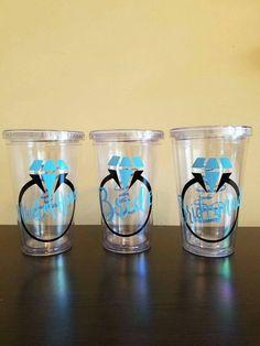 Acrylic Mason Jar Tumbler Glitter Non Glitter Vinyl Decals - Custom vinyl decals for tumblers