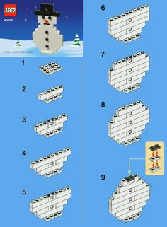 Lego Snowman                                                                                                                                                     More