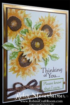 thinking of you sunflowers card by Robin Messenheimer