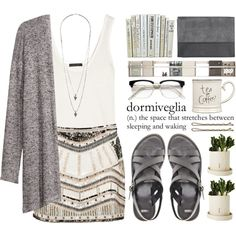 I'm going grey... by ctodtims on Polyvore featuring moda, H&M, The Row, Forever New, ASOS, Monki, Wallis, RetroSuperFuture, Foxy Potato and Expressions