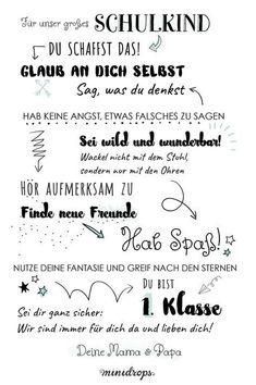 Tolles Mutmach-Poster für das Schulkind zum ersten Schultag! Das Meilenstein Poster zur Einschulung kannst du dir auf dem Minidrops Blog ausdrucken. Ein schönes Geschenk zum Schulstart. Jetzt ausdrucken >>>>