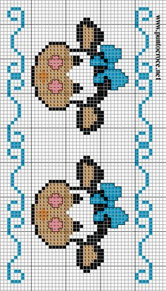me ~ Punto croce Cross Stitch Cow, Kawaii Cross Stitch, Cat Cross Stitches, Cross Stitch Bookmarks, Cross Stitch Cards, Cross Stitch Borders, Cross Stitch Animals, Cross Stitch Flowers, Cross Stitch Kits