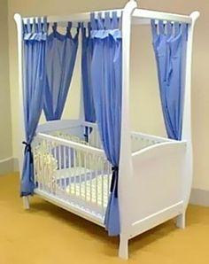 Kidoz Four Poster Sleigh Baby CotRidgewayskids furniture
