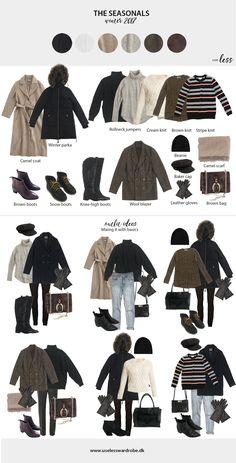 winter 2018-19 seasonal pieces ideas capsule wardrobe Capsule Wardrobe Winter, Winter Wardrobe Essentials, Capsule Outfits, Wardrobe Basics, Travel Wardrobe, Fashion Capsule, Mode Outfits, Winter Layering Outfits, Winter Ootd