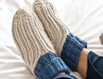 Ribby Slipper Socks by Cathy Carron Simple rib pattern, and easy construction - designed in 5 sizes from toddler to adult